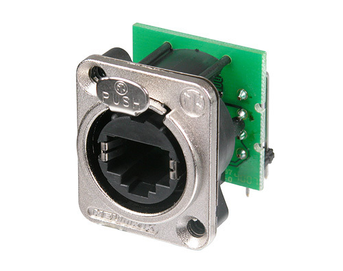 Hight Quality RJ45 Connector for Use in Patchfields-Rear Side Accommodates Standard RJ45 Plug