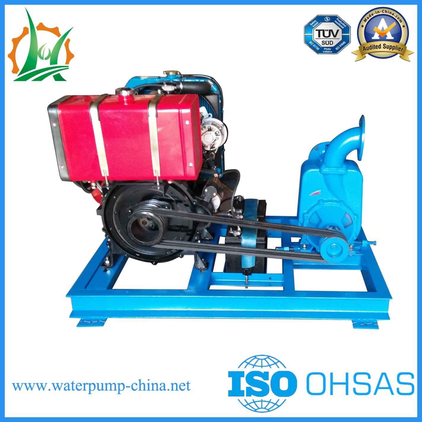 3 Inch Self Priming Diesel Engine Belt Driven Centrifugal Water Pump