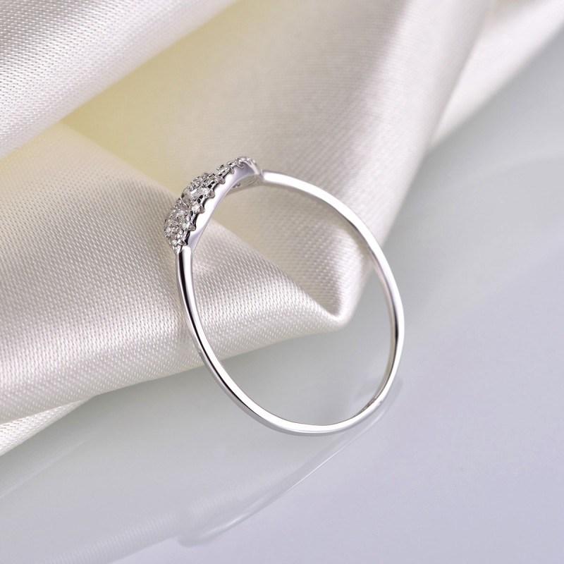 Silver Evil Eye Diamond Ring - Zr3130