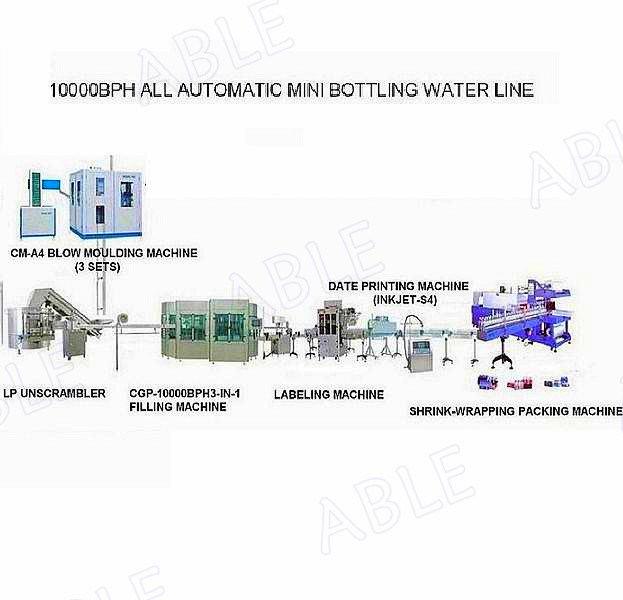 8000-10000bph Bottled Water Filling Machine