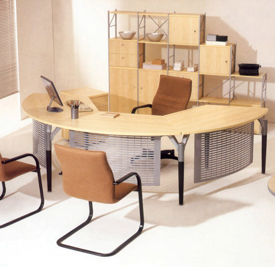 China Modern Office Furniture MFC Wooden MDF Office Table (NS-NW129)