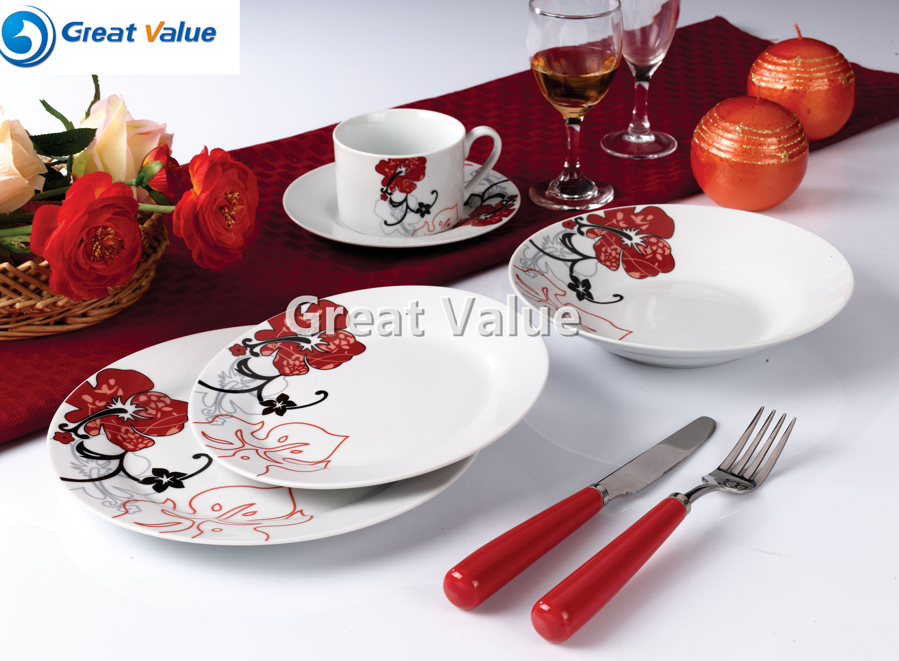 30PCS Luxry Ceramic Dinner Sets