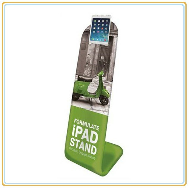 Tension Fabric iPad Stand for Portable Display