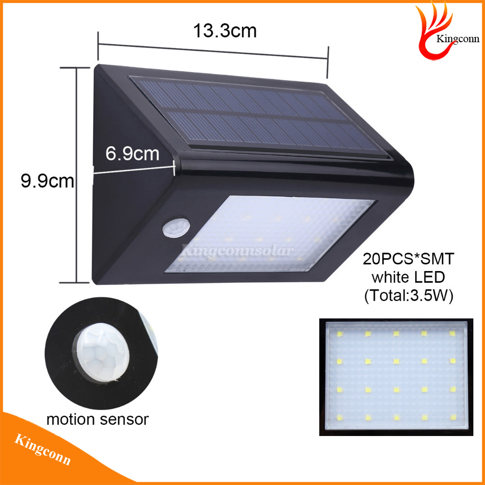 LED Motion Sensor Solar Light Solar Garden Light Outdoor