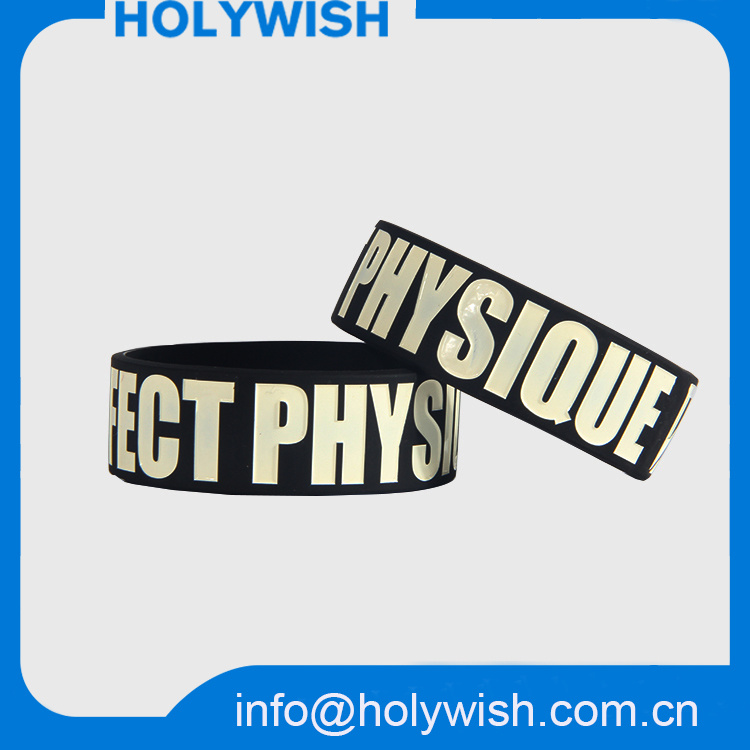 Passive Waterproof RFID Silicone Wristband Debossed Logo Design