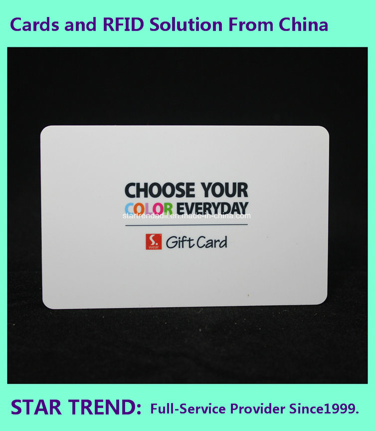 Plastic Savings Card for Customer with Magnetic Stripe (ISO 7811)