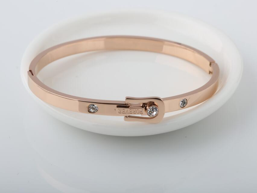 316L Jewelry Belt Buckle Forever Bracelet Bangle