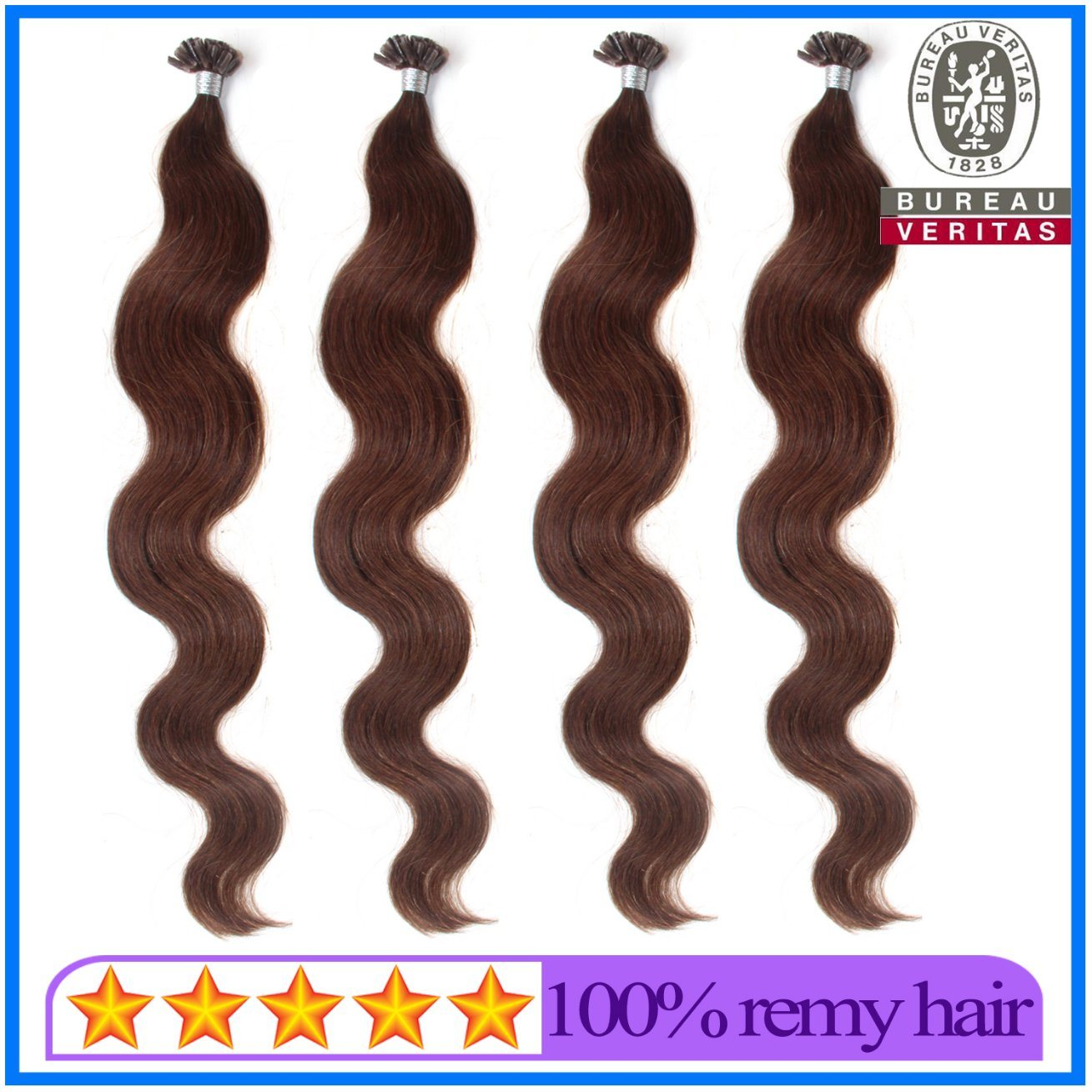 High Quality Nail Tip Pre Bonded Hair Extension