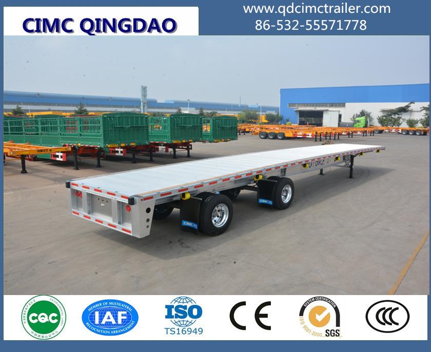 40 Tons 3 Fuwa Axle Platform Flatbed Semi Trailer