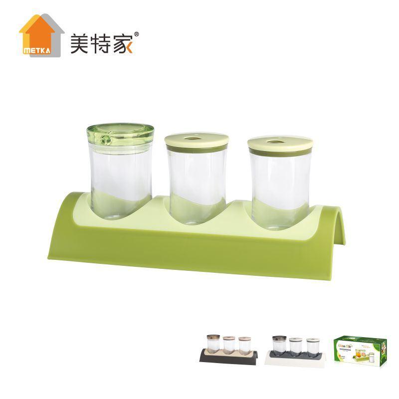 6464 Kitchen Combination Seasoning Cruet Set 3 Cans
