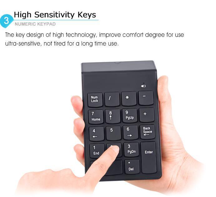 18 Keys 2.4G Mini Digital USB Numeric Keypad Wireless Keyboard