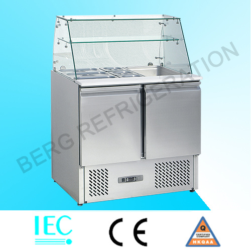 Stainless Steel 2 Door Commercial Undercounter Refrigerator
