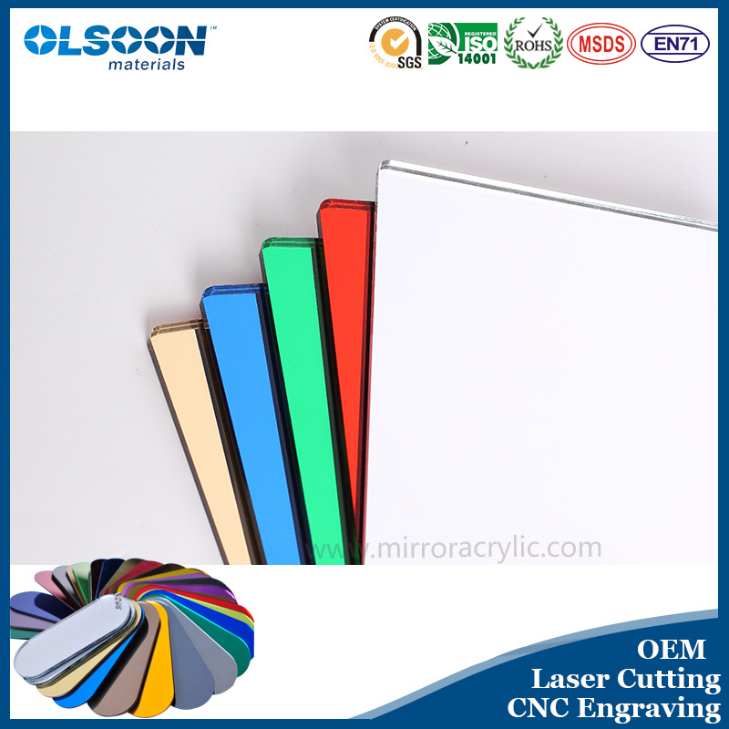 Olsoon 0.8-6mm Thickness Golden Acrylic Mirror Sheet Plastic PMMA Sheet