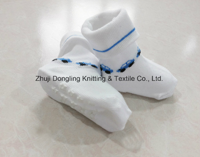 100% Cotton and Anti Slip Baby Socks