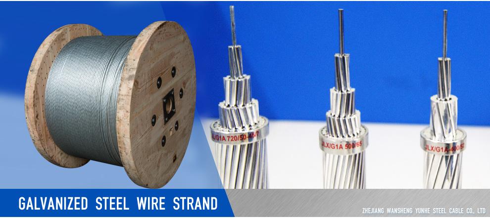 Galvanized Steel Wire Strand 1X7-3.0mm