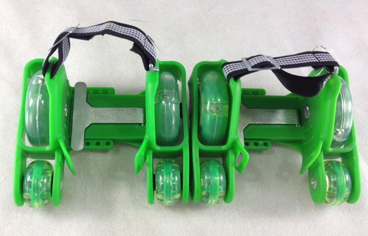 PVC Lighting 4 Wheels Adjustable Heels Roller Flashing Skates