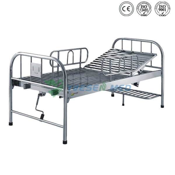 Ys-212 Hospital Equipment Stainless Steel Bed Hospital Cheap Hospital Bed