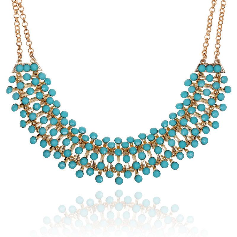 Fashion Full Star Designer Acrylic Choker Necklace Jewelry