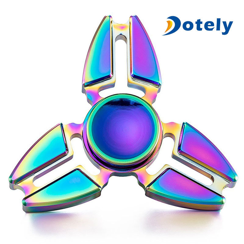 Rainbow Tri-Force Fidget Spinner