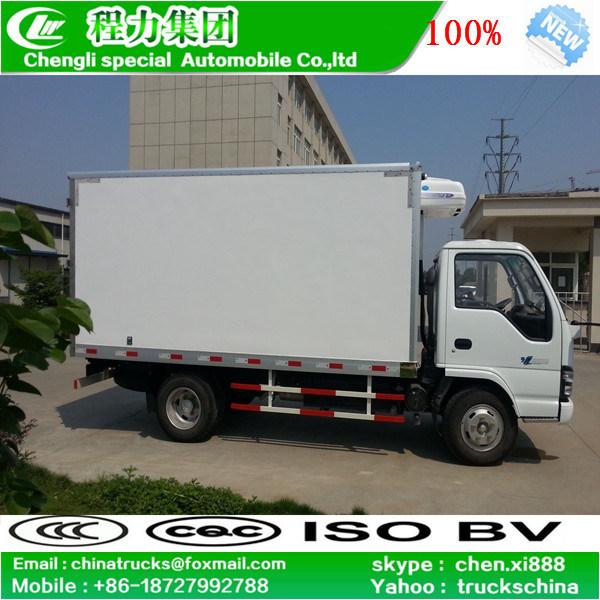 LHD Isuzu 4X2 5tons Refrigerator Freezer Van Refrigerated Truck