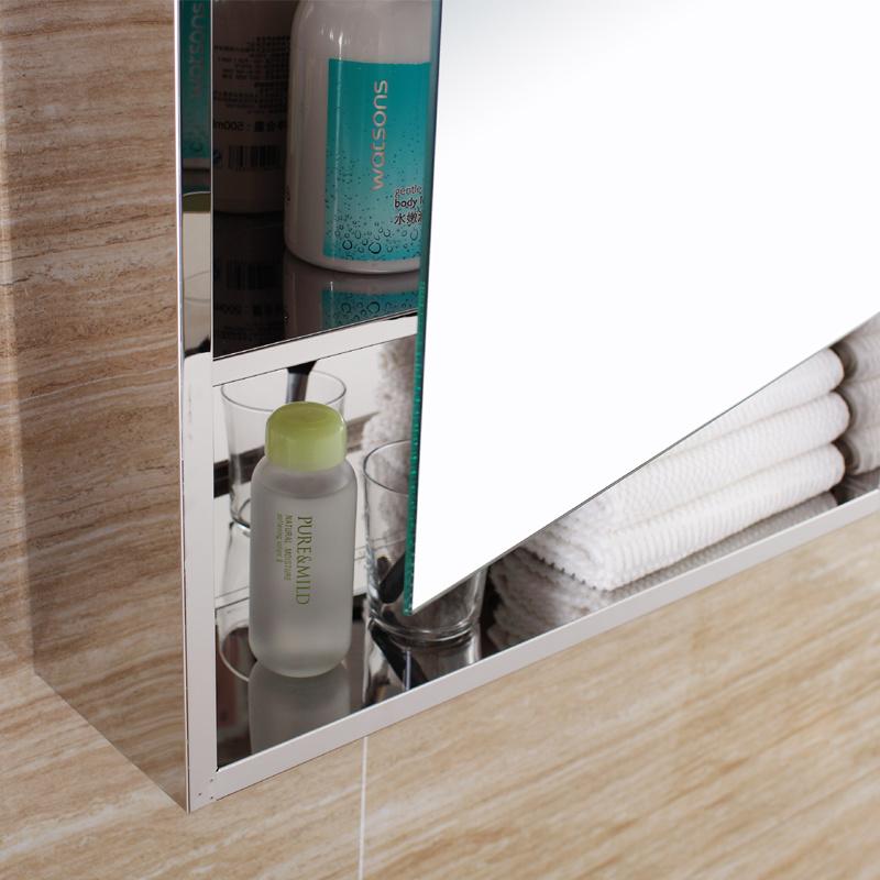 2017 European Design Stainless Steel Bathroom Mirror Cabinet (7092)