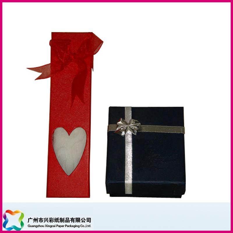 Custom Design Art Paper Empty Heart Shape Gift Box