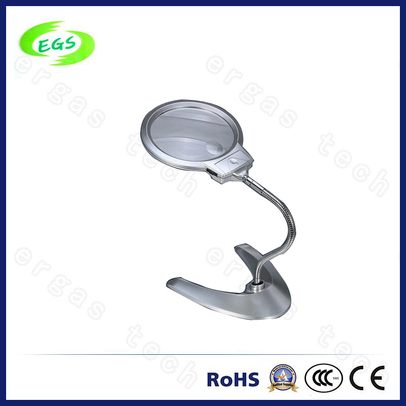 Desk-Top Magnifier with Lamp Stand and Adjustable Egs4b-12