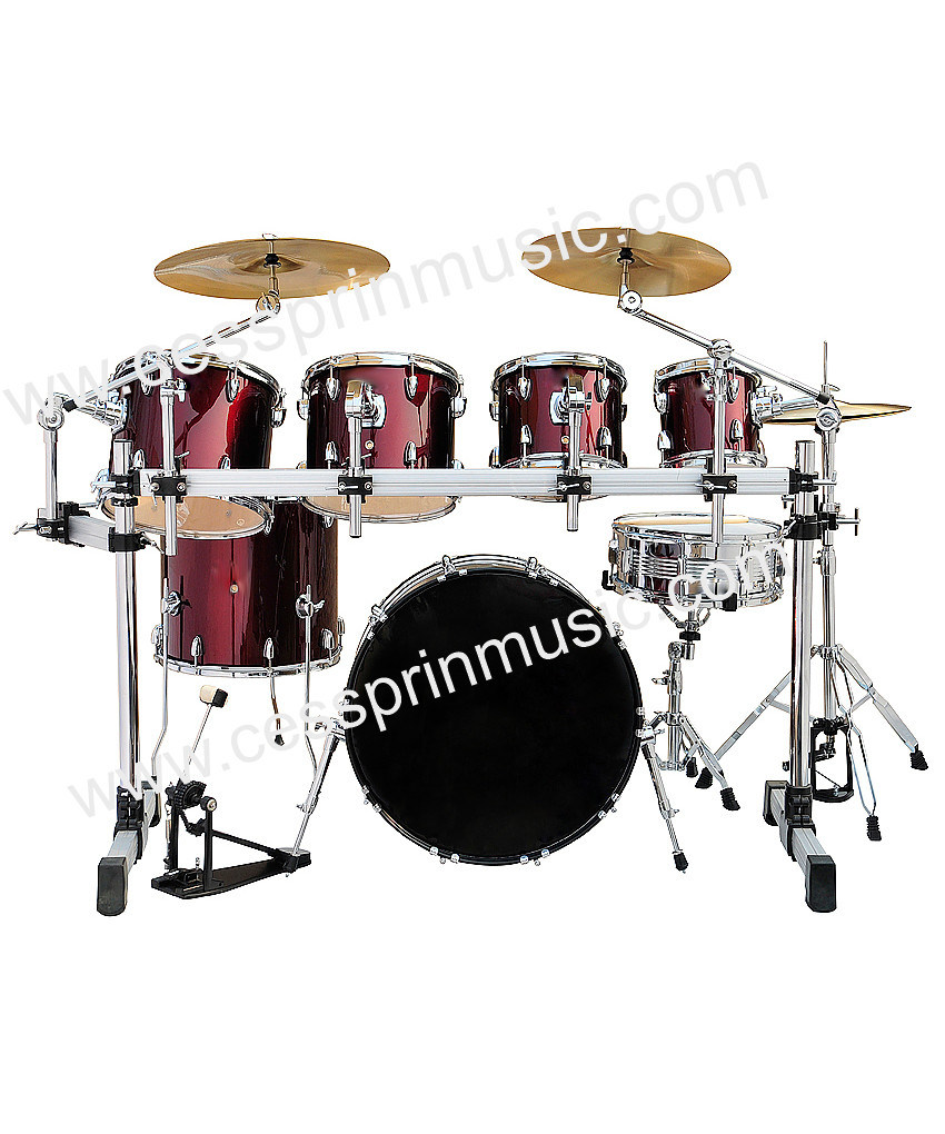 Hot! / Cessprin Music/ 7 PC Drum Set with Rack/ PVC Drum Set