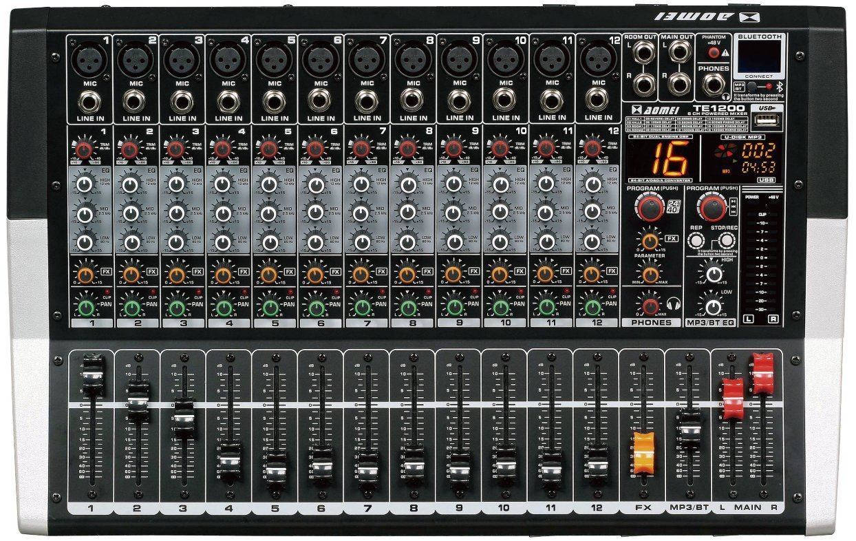 Special New Design Powered Mixer Te600 Series Professional Amplifier