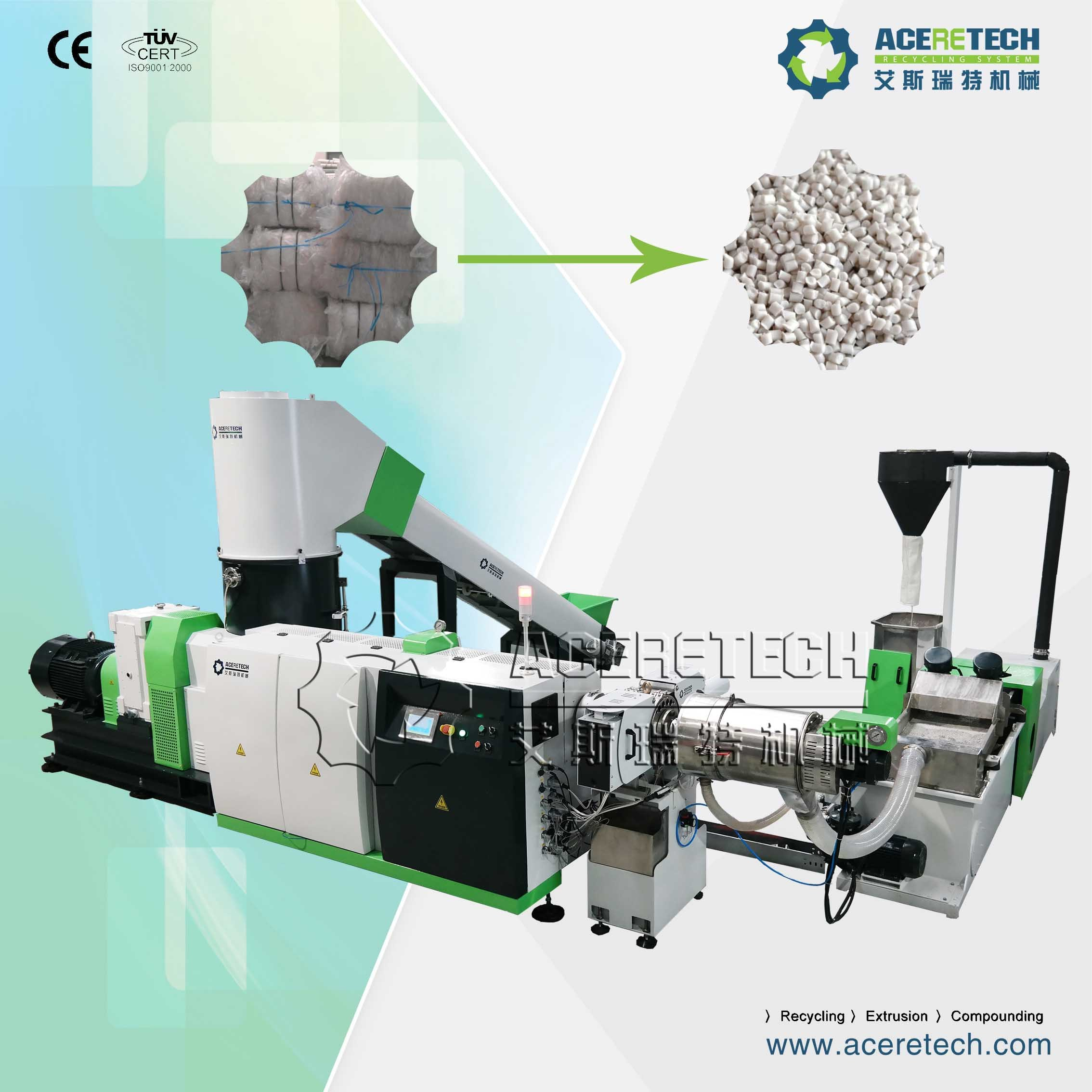 Compacting and Pelletizing Machine for Woven/Non-Woven/Shopping/Plastic Bags
