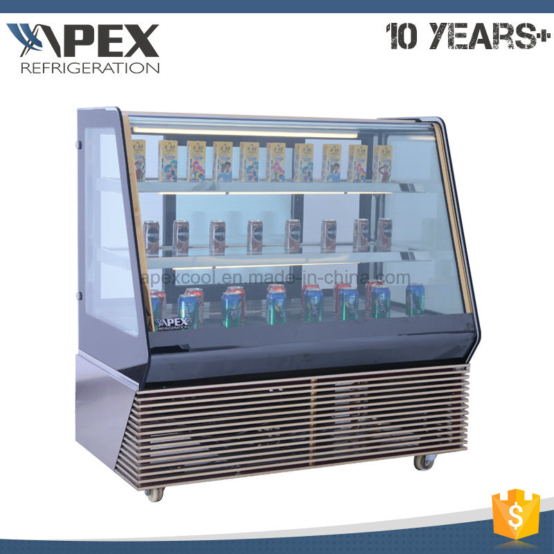 2017 New Style Supermarket Cake Showcase Price/Cake Chiller/Glass Cake Display Cabinet