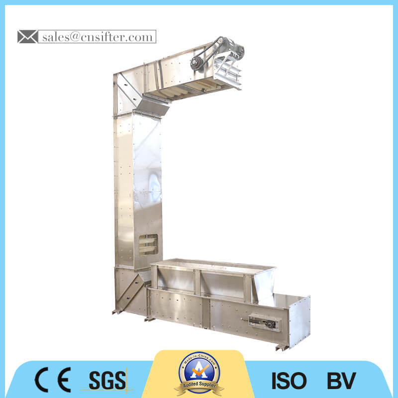 C Type Stainless Steel Small Chain Bucket Elevator