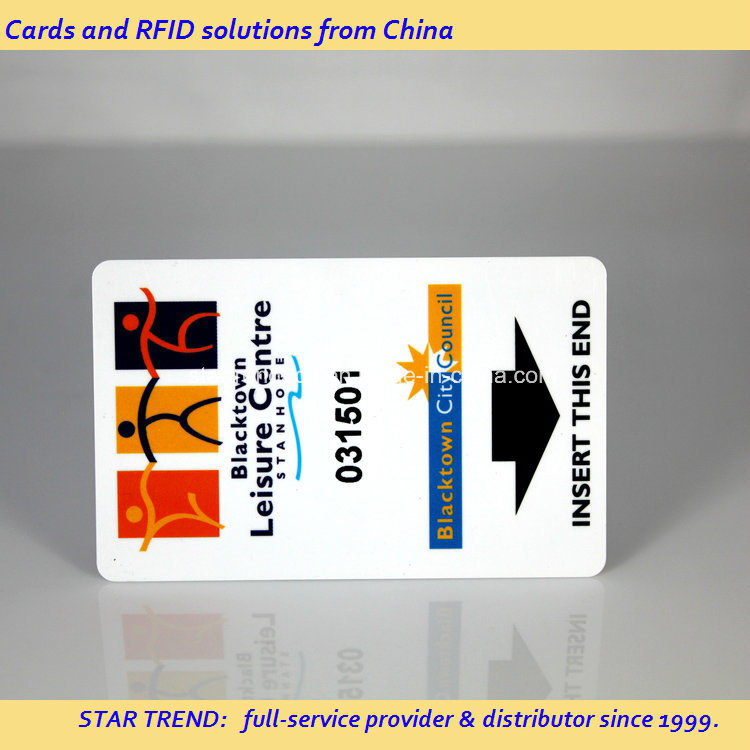 Hotel Key Card with Loco Magnetic Stripe Made of PVC