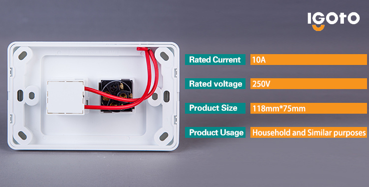 Igoto As329 Australian Standard Electrical One Gang Switch with Fan Speed Controller