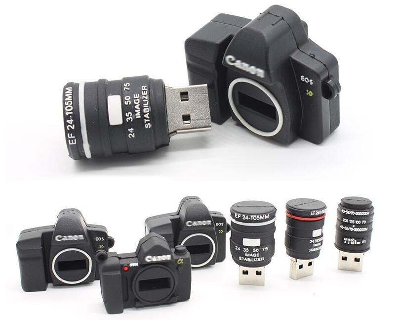 Gift Camera Shaped Flash Pen Drive Stick Memory USB