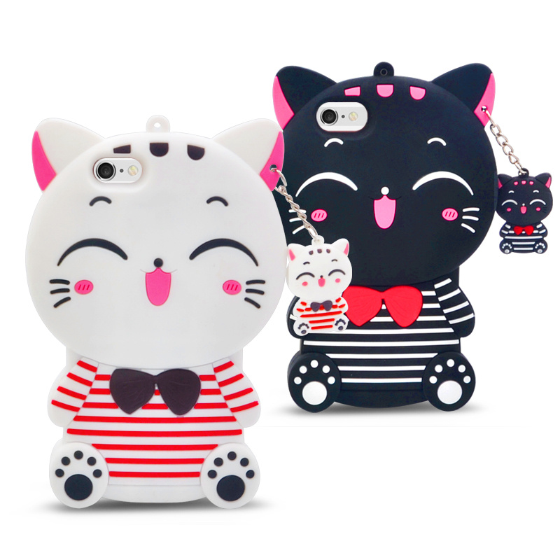 New Designs Hot Sale Soft Cartoon Cat Silicone Case for Samsung J7 Prime J5 Prime Mobile Phone Case