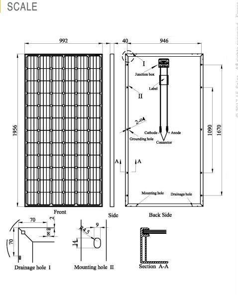 Pid Free Mono Solar Module (320W-345W) German Quality