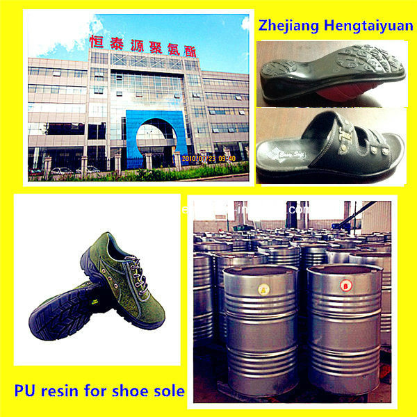 PU Prepolymer /PU Chemical/ PU Raw Material/PU Two-Component Raw Material for Safety Footwear Shoe Sole: Flexible Foam Polyol and ISO