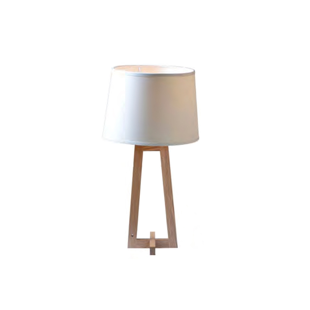 Wooden White Table Lamp with Paper Shade Oz-Al717