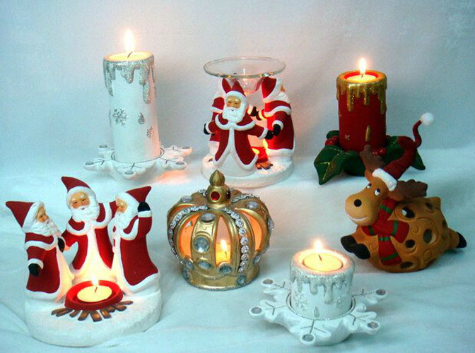 New Design Christmas Ceramic Candle Holder
