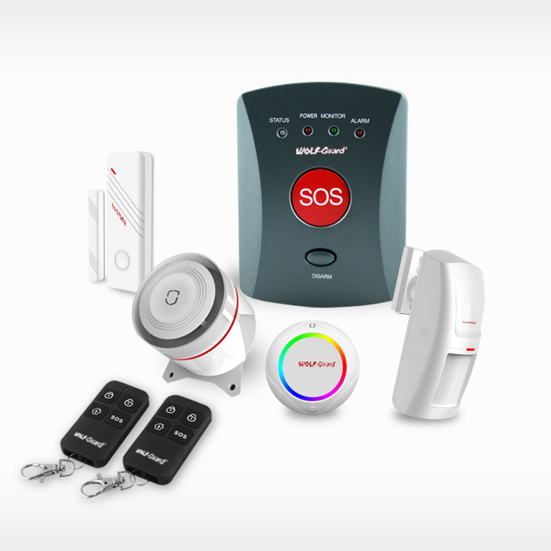 850 / 900 / 1800 / 1900 Home Wireless Intruder Alarm System + GSM Communiction Panel + Sos + Wireless Sensor + Wired Sensor