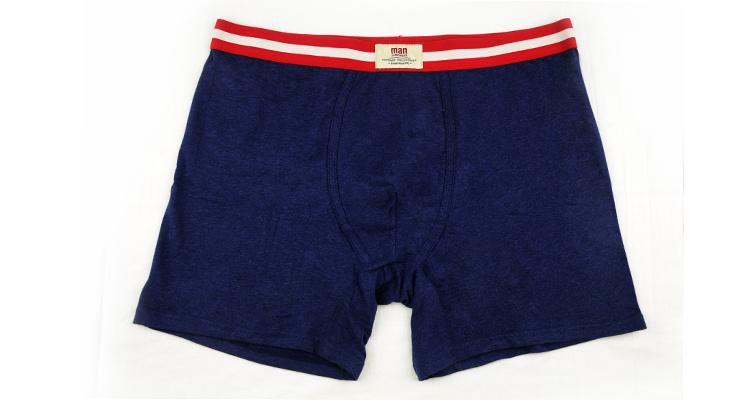 100% Cotton Underwear Boxer Brief Men 248-Dark Blue