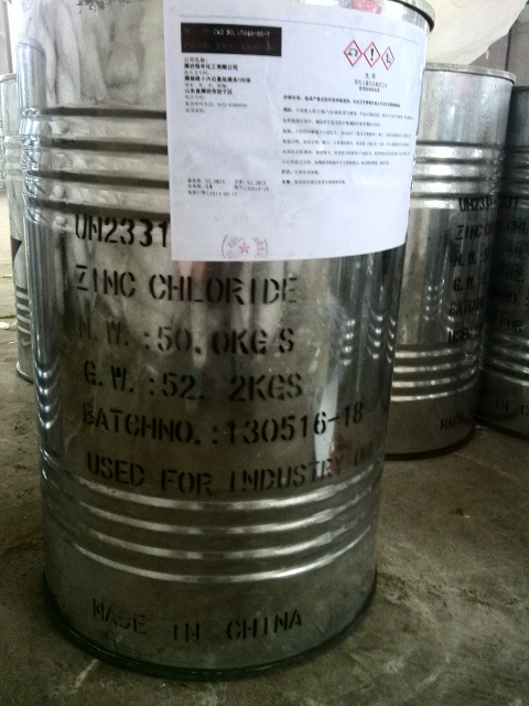 Shandong Factory 98%Min Zinc Chloride CAS No.: 7646-85-7 Battery Grade