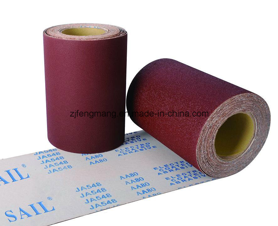 J-Wt Cloth Calcined Aluminum Oxide Specisal Coated Abrasive Cloth Roll Ja548