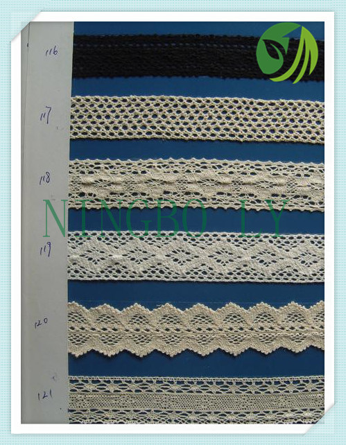 Cotton Crochet Lace for Clothing and Textile