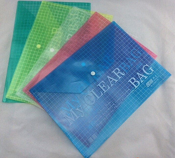 A4 Size PP Plastic Printing File Pocket Bags