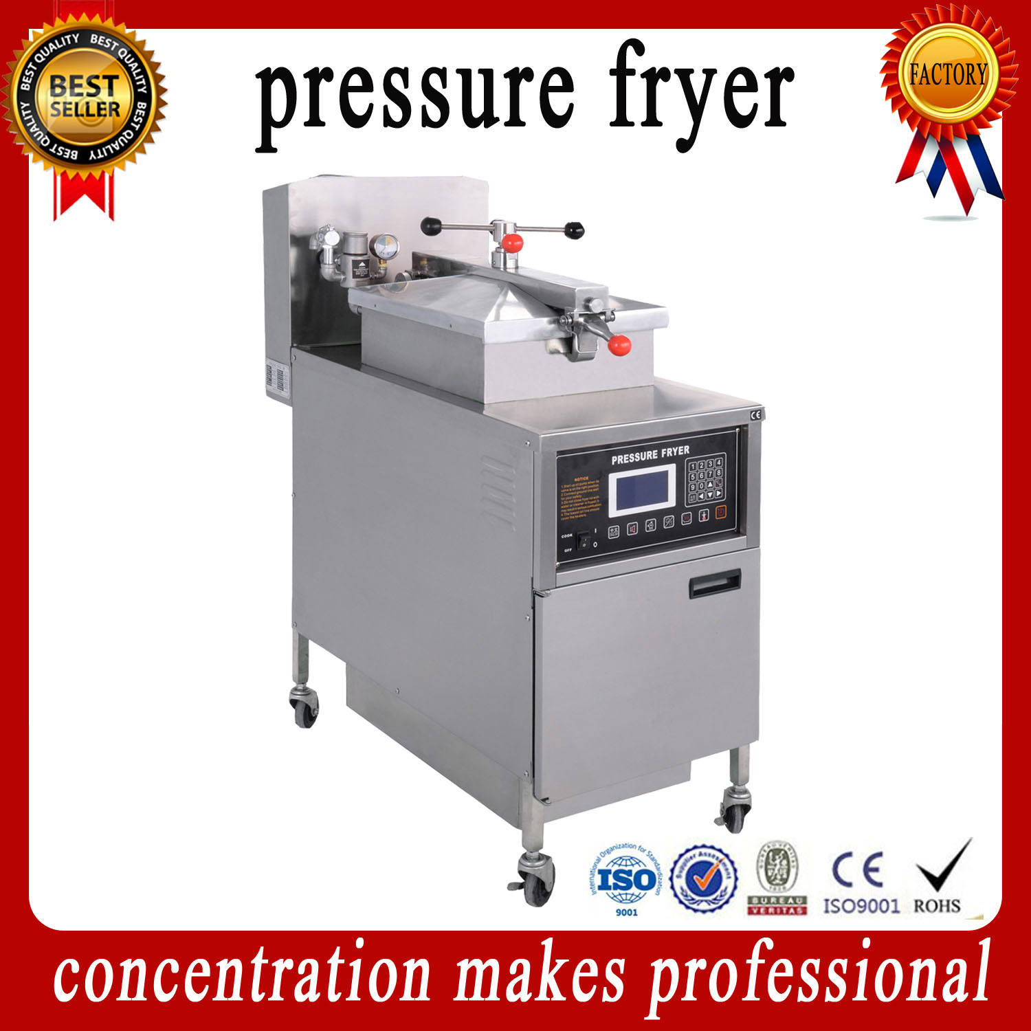 2016 Hot Sale Stainless Steel Commercial Chicken Electric Pressure Fryer