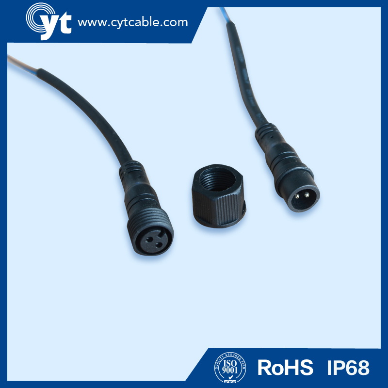 M 15 2 Pin Waterproof Cable with Male and Female Connector