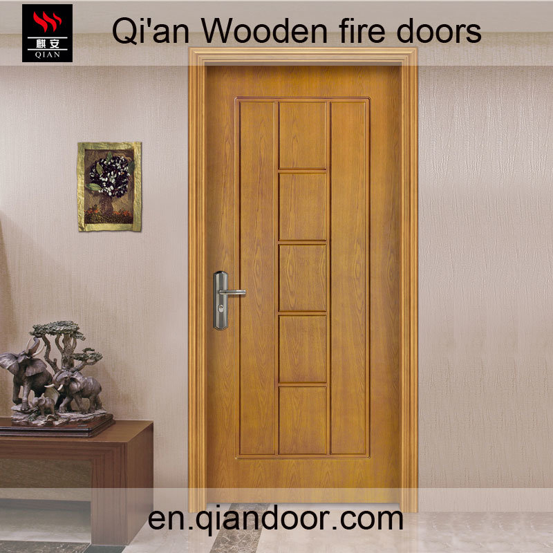 Fraxinus Mandshurica Fire-Rated Timber Door