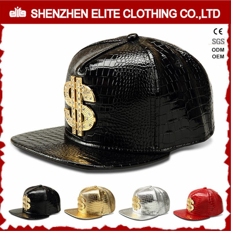 Hip Hop Men Custom Logo Leather Baseball Cap